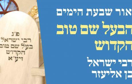 הבעל שם טוב הקדוש – רבי ישראל בן אליעזר